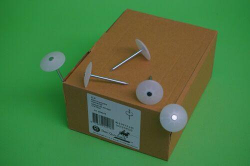 Nagelscheibe rund Ø34mm mit Nagel 3,3x60mm Kunststoffscheibe 100 Stück Art954916
