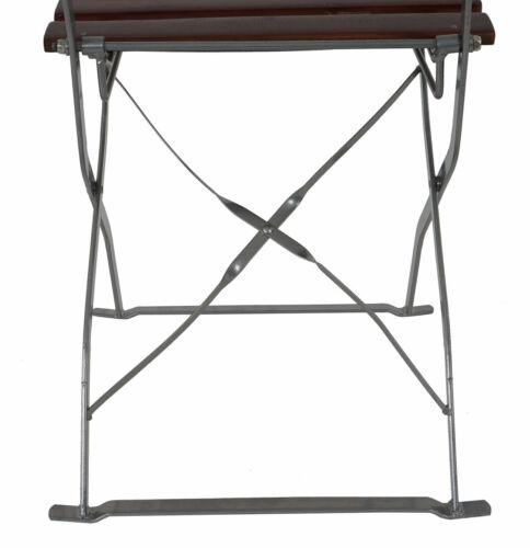 chaise de jardin marron foncé 4x bar à bière chaise Typographie acacia laqué