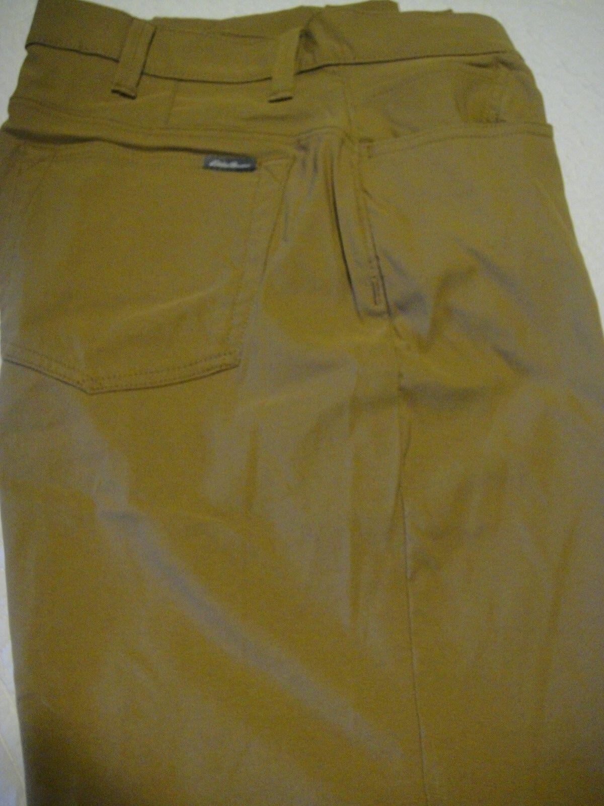 EDDIE BAUER TRAVEX PANTS 36 X 30 BROWNISH gold