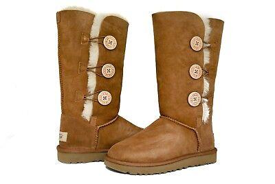 04addaf618d UGG Australia Women Bailey Button Triplet 2 II Boots 1016227 Black Chestnut  Grey   eBay