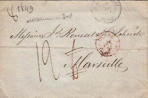 Germany-Lettre-ALTONA-pour-Marseille-gt-gt-Taxe-Rectifie-1849-Brief-Cover