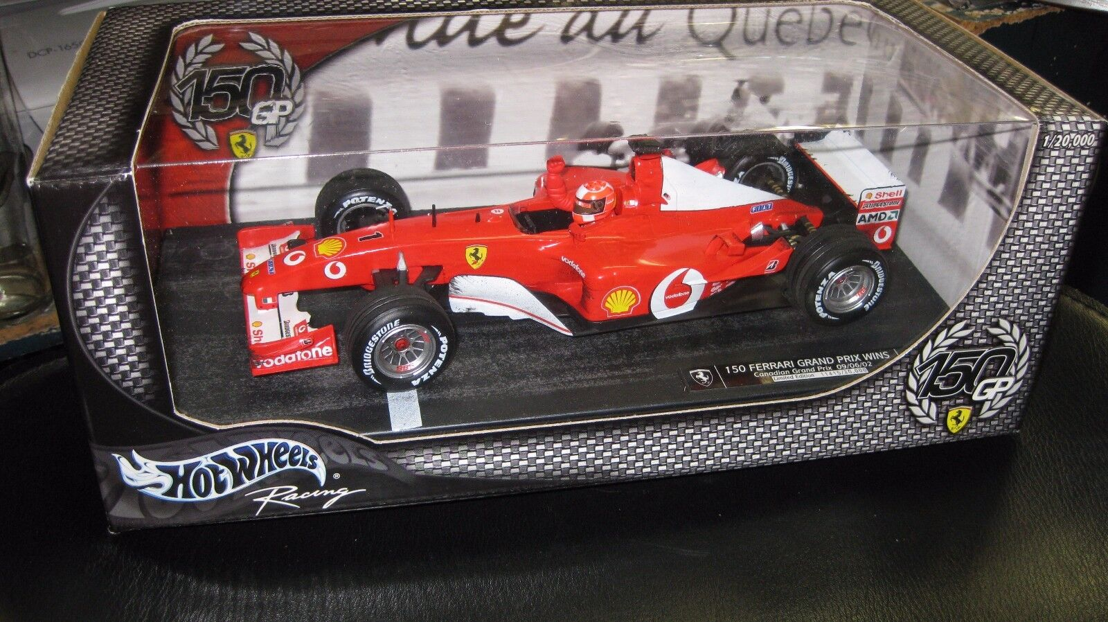 HOT WHEELS 1 18 F1 SCHUMACHER 150 FERRARI GRAND PRIX WINS CANADIAN GRAND PRIX 02