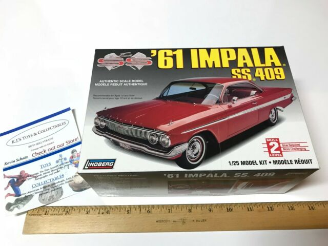 61 Impala For Sale >> Lindberg 1961 Chevrolet Impala Ss 409 Convertible Model Kit 1 25