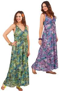 Image is loading Pistachio-Animal-Print-Summer-Maxi-Dress-Purple-Green- d431d89c0