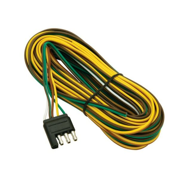 wiring harness connector ends wesbar 002235 4 flat trailer end connector 35 ft wishbone harness  wesbar 002235 4 flat trailer end