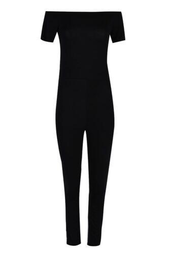 Ladies Womens Short Bardot Off The Shoulder Cap Sleeve Playsuit Maxi Jumpsuit
