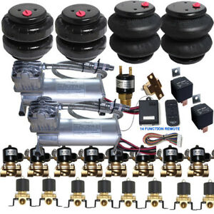 Details about Air Ride Suspension Kit Compressor Valves Tank 2500/2600 Bags  Wireless