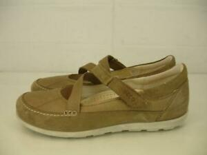 Details about Womens 11 11.5 42 ECCO Cayla Mary Jane Shoes Leather Comfort Navajo Brown Beige