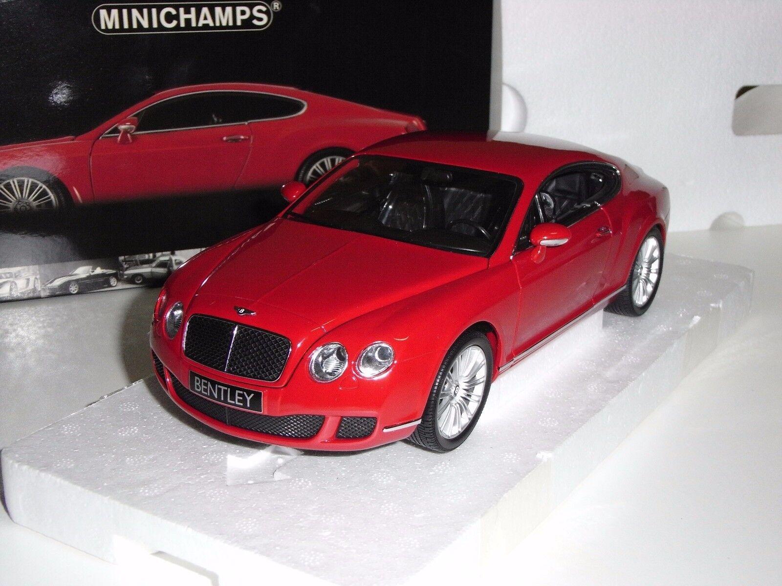 BENTLEY CONTINENTAL GT 2008  rojo  MINICHAMPS 1 18
