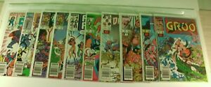 Lot-of-10-Copper-Age-Marvel-Comics-including-Groo-1985-1989-Comic-Books