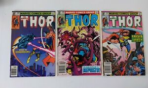 Thor-309-310-311-1981-VF-NM-3-book-lot-run-Newsstand-Police-brutality-issue