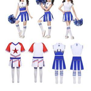 b1a53638a Girls High School Musical Cheerleader Costume Dancer Outfit Uniform ...