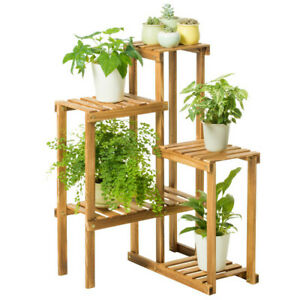 Flower-Pot-Wood-Plant-Stand-5-Tier-Ladder-Shelf-Holder-Rack-Home-Bathroom-Patio
