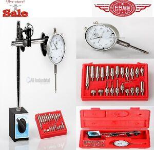 Dial Indicator and Base Set Inspection Holder Magnetic Base Kit Red