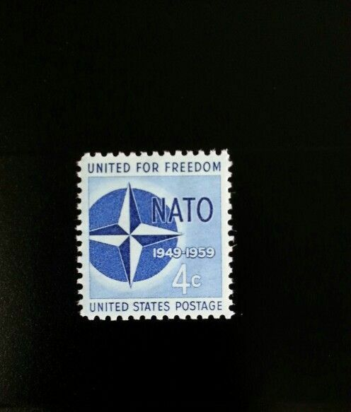 1959 4c N.A.T.O. United for Freedom, 10th Anniversary S