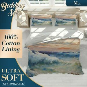Wave-Cloud-Art-Classic-Colourful-Quilt-Cover-King-Bed-Single-Double-Queen-Size