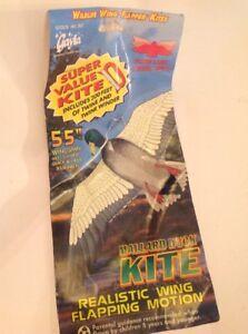 Vintage-Gayla-Mallard-Duck-Kite-55-034-Wing-Span-Keel-Guided-Decoy-837-Unused