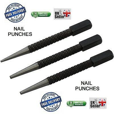 Amtech H1000 3 Piece Steel Nail Punch Set Remover Tool 1.5mm 2.4mm 3mm