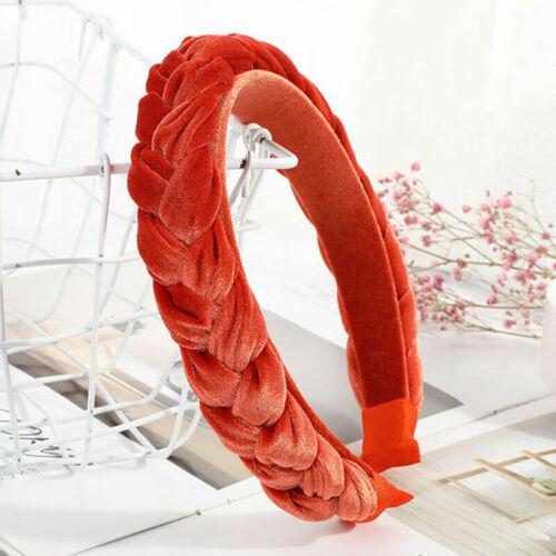 Women/'s Velvet Headband Twist Hairband Braided Knot Hoop Tie Hair Accessori T6G1