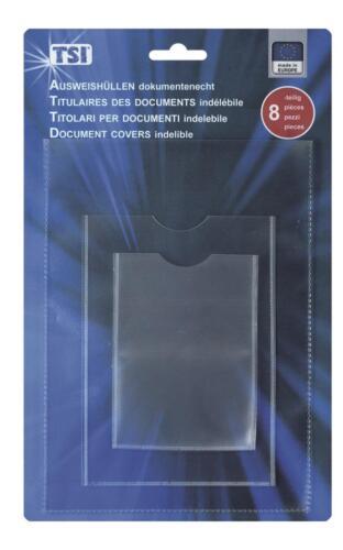 Reisepass für Kreditkarten KFZ-Schein Personalausweis Ausweishüllen-Set 8tlg
