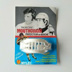 Vintage 1970's Phil Esposito Mylec Street Hockey Protective Mouth Guard Unopened