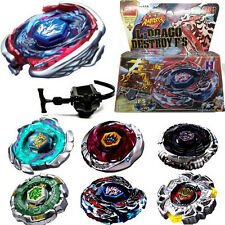 Fusion  Rapidity Fight Metal Master Beyblade 4D Launcher Grip Set Collection New