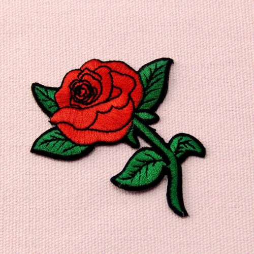 Embroidered Sew Iron On Patches Applique Clothes Badge Hat Cap Jacket Jeans Rose