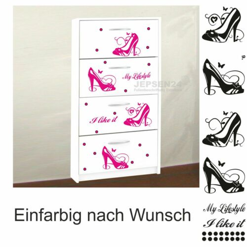 Wall Tattoo Shoes Set 9 Pumps High Heels-my lifestyle-I like it 22 pieces