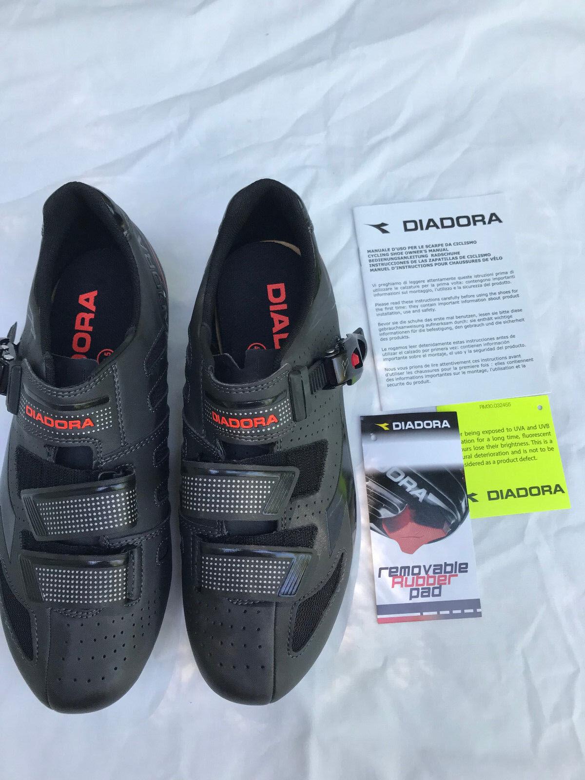 DIADORA Men's TRIVEX PLUS II Bicycle Cycling Shoes Size 41