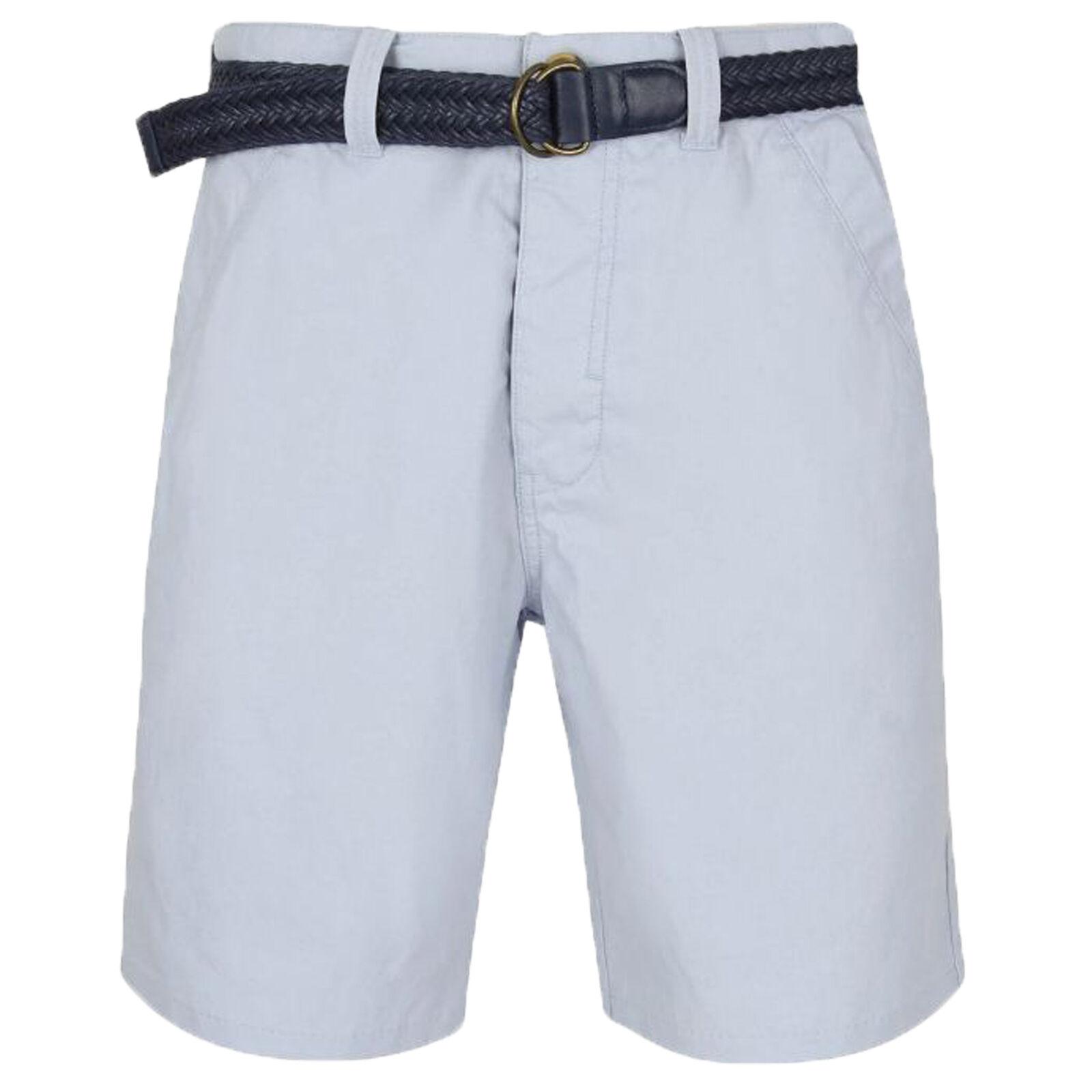 Hombre Tokyo Laundry Shorts Chinos Brad Tejido Belt Peached Acabado Moda Verano