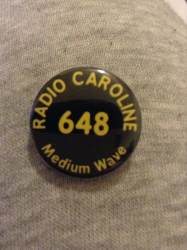 RADIO CAROLINE 648 Medium Wave Button Badge