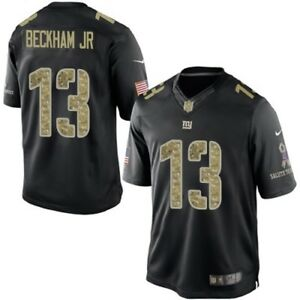 best loved 2a990 ad782 Details about Odell Beckham Jr New York Giants Salute to Service STS Nike  Stitched Jersey Men