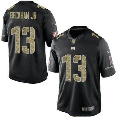 huge discount ba974 7b4c0 Odell Beckham Jr New York Giants Salute to Service STS Nike Stitched Jersey  Men | eBay