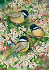 "Sweet Chickadees Garden Size Flag TOL 117078 13/"" x 18/"" Approx"
