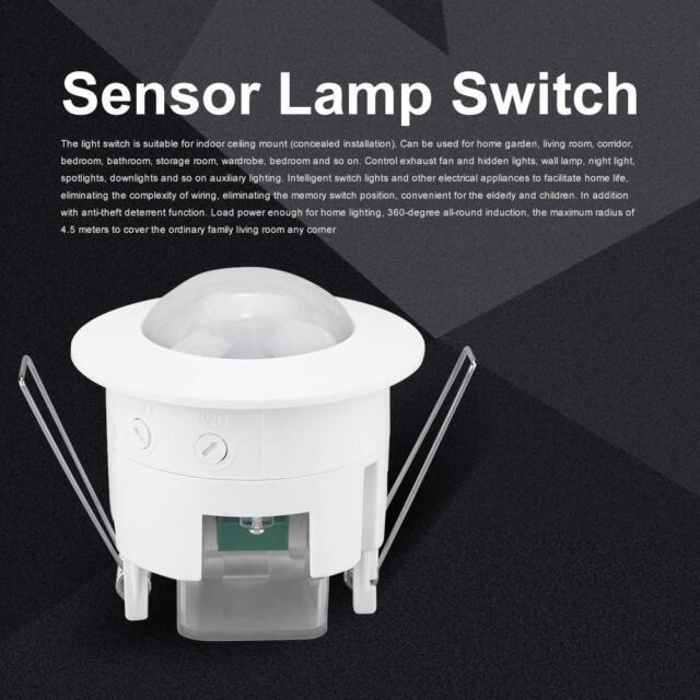 360 U00b0 Pir Infrared Motion Movement Sensor Detector Switch