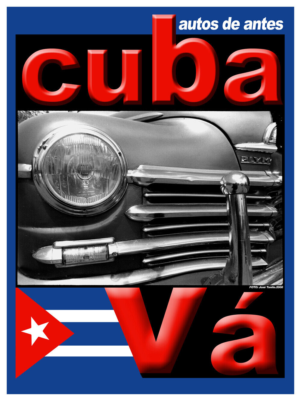 7570.Decoration Poster.Home Room wall shop art design.Vintage car auto.Cuba Va