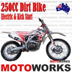 MOTOWORKS-250cc-BIGFOOT-MOTOR-TRAIL-DIRT-PIT-PRO-2-wheels-MOTORCROSS-BIKE-white