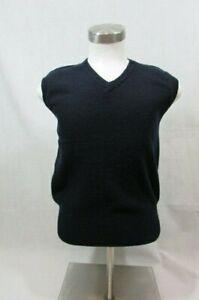 Ralph-Lauren-Polo-Men-039-s-Medium-100-Lambswool-Sweater-Vest-Color-Blue