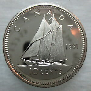 CANADA  1991  ****  PROOF CAMEO  SILVER DOLLAR   ****