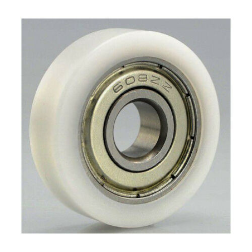 10mm Bore Bearing with 36mm White Plastic Tire 10x36x10.5mm