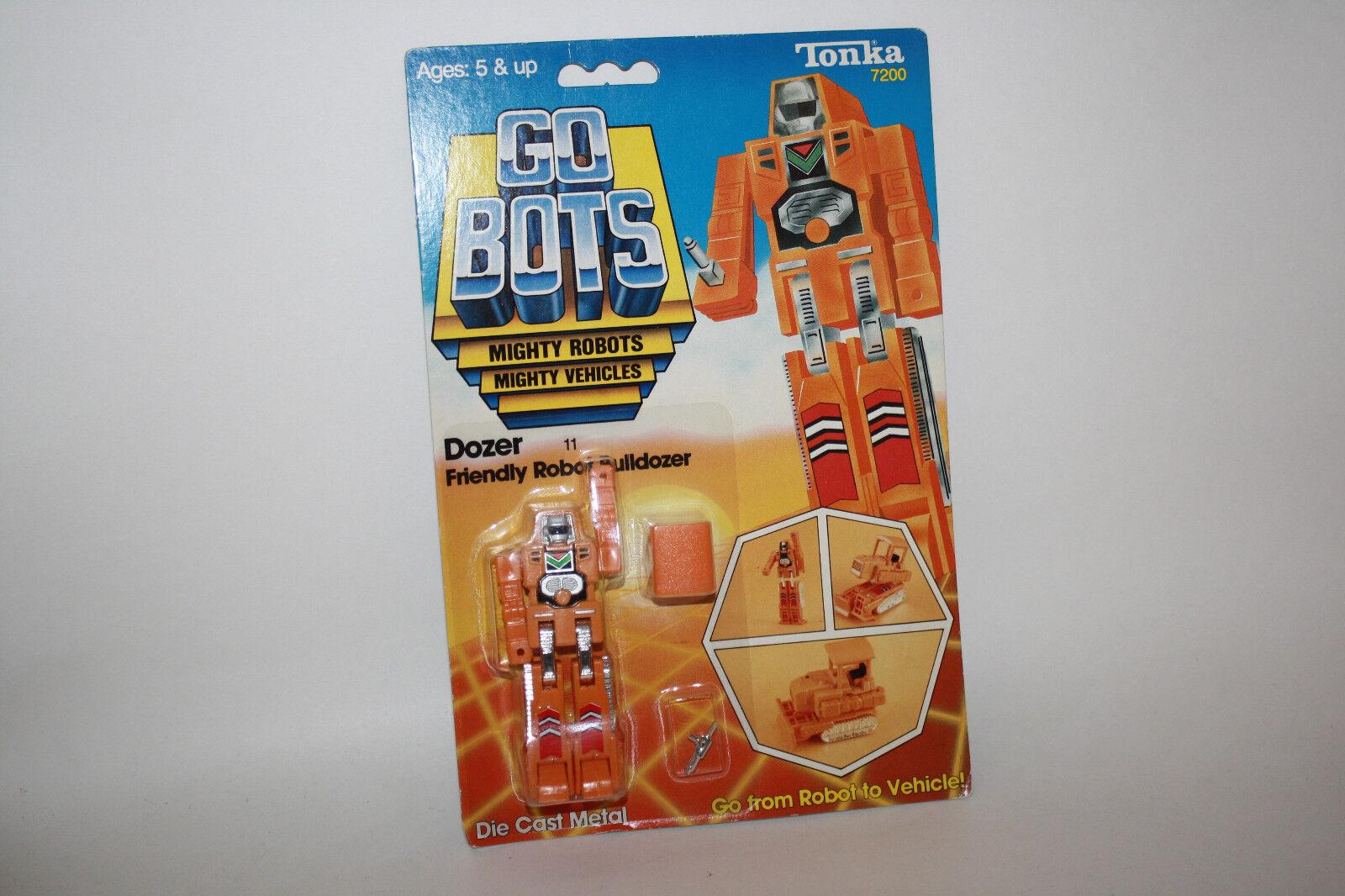 Vintage Tonka GoBots Dozer Friendly Robot Bulldozer 11 MOC - R614