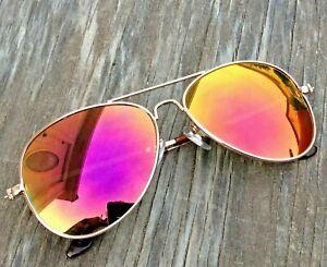 Aviator-Sunglasses-Unisex-Flash-Mirror-Lens