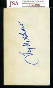 Tug McGraw JSA Coa Autograph Signed 3x5 Index Card