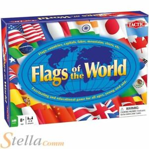Flags of the world geography educational world map countries game ebay image is loading flags of the world geography educational world map gumiabroncs Image collections