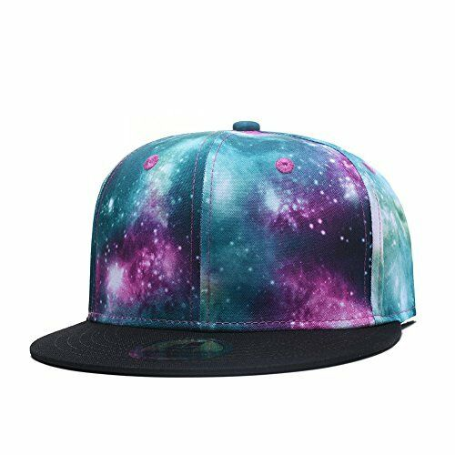 045d46e66dc Cap Hip Hop Quanhaigou Galaxy Snapback Dad Hat Green Purple Unisex Flat  Bill for sale online