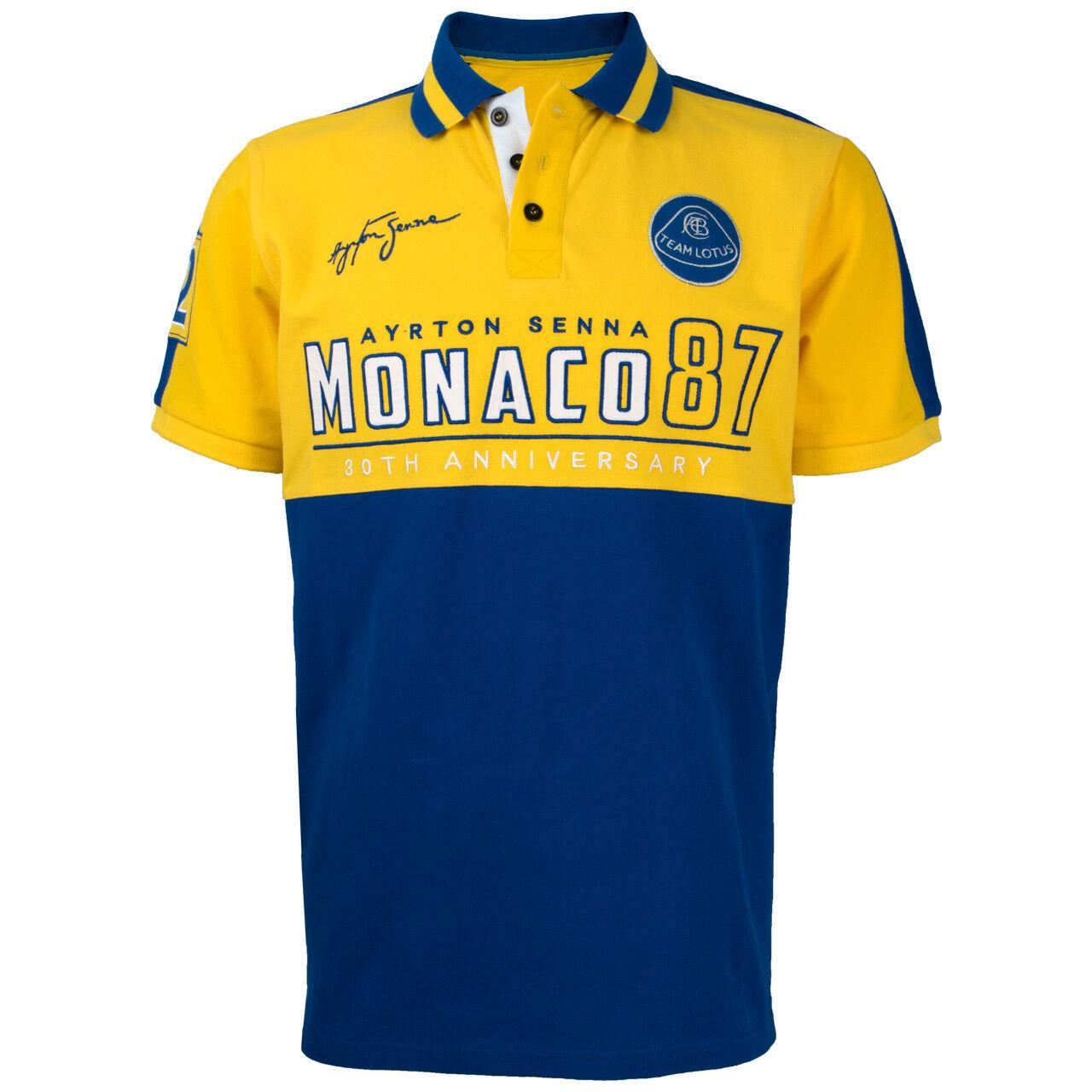 AYRTON SENNA Polo Shirt Monaco 1987 Yellow