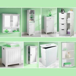 Image Is Loading White Bathroom Cabinet Storage Unit Mirror Door Cupboards