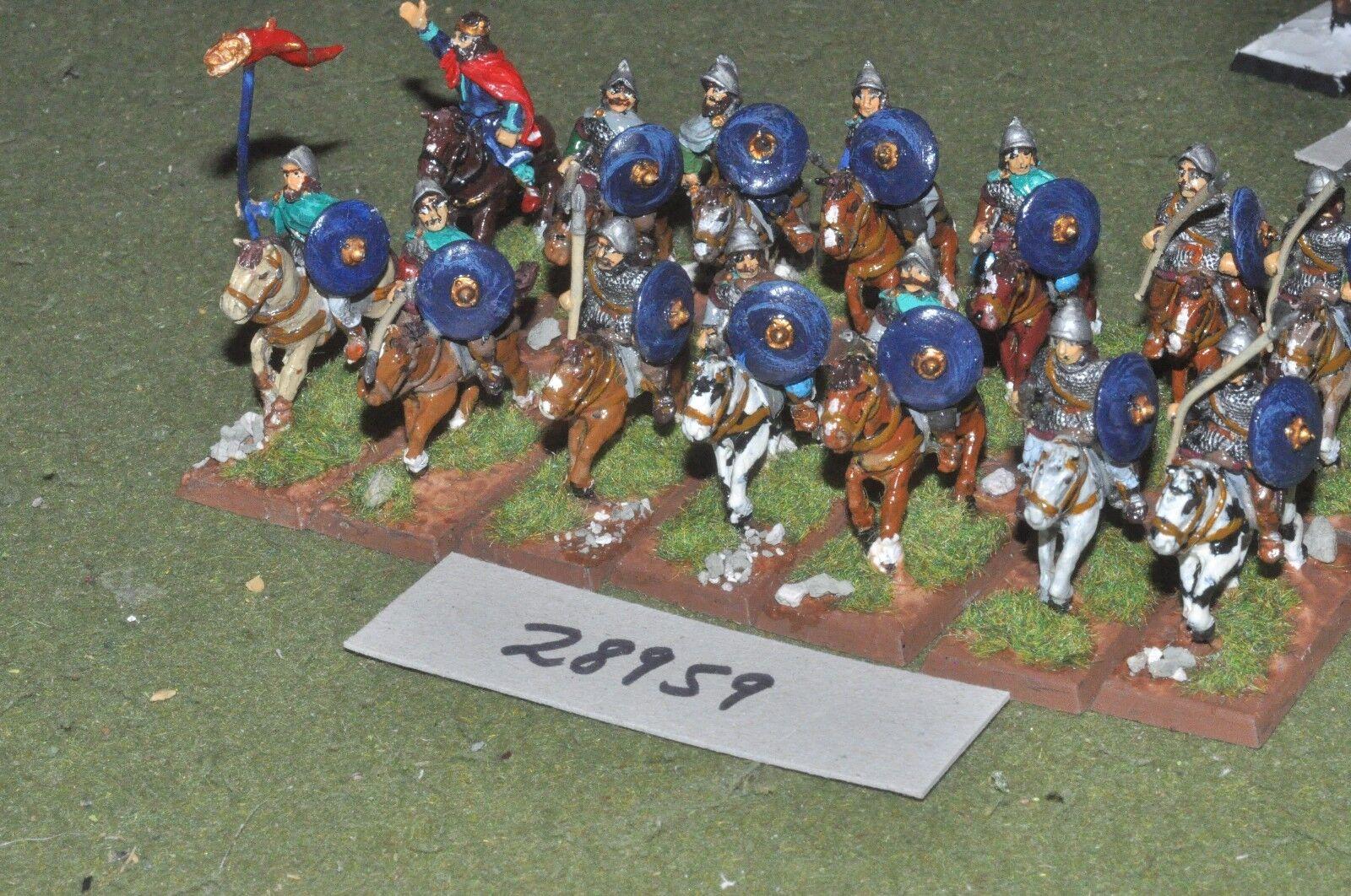 25mm dark ages   carolingian - heavy 14 figures - cav (28959)
