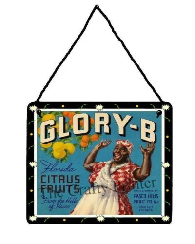 Glory-B! Wood Decorator Plaque Aunt Jemima//Mammy Vintage Citrus Fruit Label
