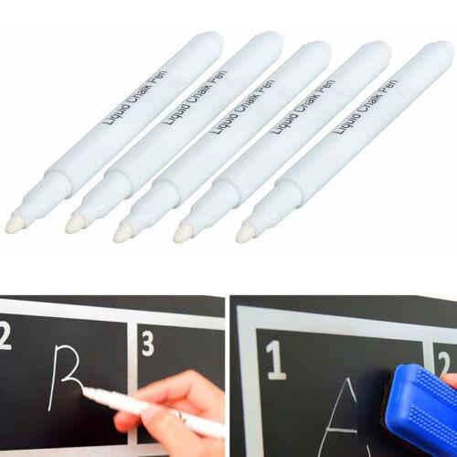 2× Flüssigkreide Kreidestift Kreidemarker Stift Marker Abwischbar Tafel ~*